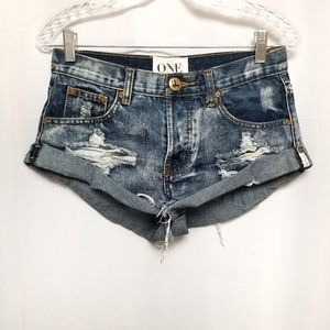 One Teaspoon Bandit Shorts Relaxed Fit 24